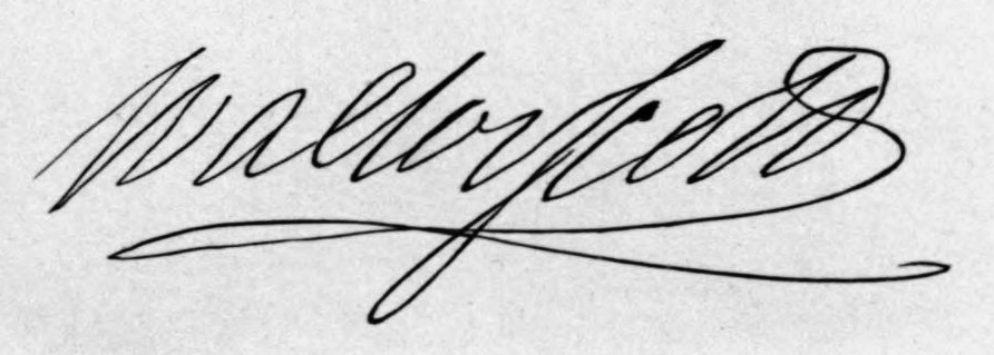 Sir Walter Scott Signature