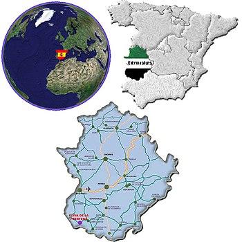 Situacion de oliva de la frontera
