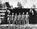 """Six men in turbans performing in the """"Pageant of Democracy,"""" Woodland Park, Seattle,"""" July 5,1920 (MOHAI 5681).jpg"""
