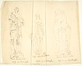 "Sketches of Three Statues- ""Diana Francesa Antica,"" ""Nymph entering a bath,"" and ""Cupid and Pysche"" MET DP804248.jpg"