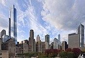 Skyline de Chicago desde el centro, Illinois, Estados Unidos, 2012-10-20, DD 03.jpg