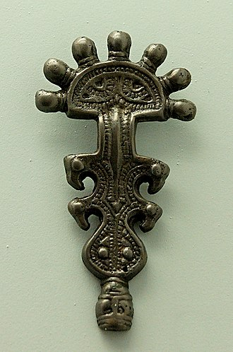 Early Slavs - Slavic stirrup buckle, c. 7th century AD