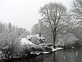 Snowing on the Kennet and Avon Canal, Woolhampton - geograph.org.uk - 333353.jpg