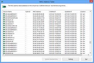 SoftEther VPN - The forwarding database (FDB) of a Virtual Hub