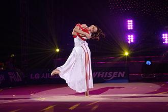 Yevgeniya Kanayeva - Kanaeva at the 2011 LG WHISEN Rhythmic All Stars Gala
