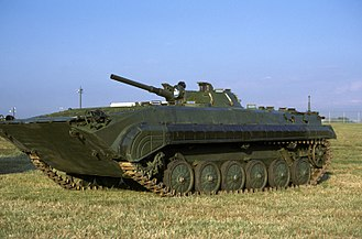 BMP-2 - BMP-1, the predecessor of the BMP-2, at US Bolling Air Force Base, 1 October 1986.