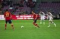 Spain - Chile - 10-09-2013 - Geneva - Alvaro Arbeloa, Santiago Cazorla and Eugenio Mena.jpg
