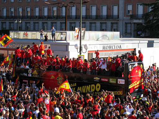 Spanish World Cup celebration