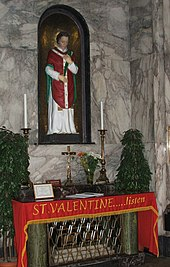 Shrine Of St. Valentine In Whitefriar Street Carmelite Church In Dublin,  Ireland