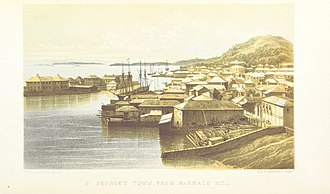 St. George's, Bermuda - St. George's Town, from Barrack Hill, 1857