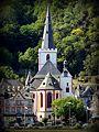 St. Goar - Evangelische Stiftskirche von St. Goarshausen aus gesehen - panoramio.jpg