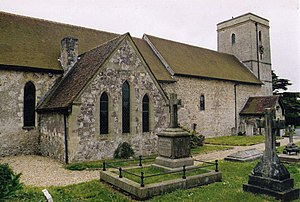 Grade II* listed buildings in Eastleigh (borough) - Image: St Andrew, Hamble geograph.org.uk 1510688