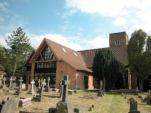 Old Malden - St John the Baptist Church, showing 2004 extension