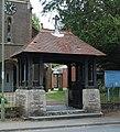 St Paul's Church, Bridge Road, Sarisbury (May 2019) (Lychgate) (NHLE Code 1276819).JPG