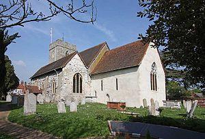 Old Woking - Image: St Peter, Old Woking, Surrey geograph.org.uk 1277421