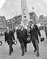 Staatsbezoek van Oostenrijkse Bondspresident Dr Adolf Schärf Kranslegging bij , Bestanddeelnr 912-4816.jpg