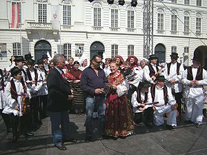 Croatian dances - A Croatian-Austrian folklore group getting ready to perform