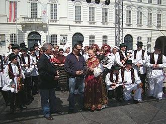 Croatian dances - A Croatian-Austrian folklore group getting ready to perform