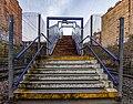 Stairs to Queen's Park Railway Station, Glasgow, Scotland 06.jpg