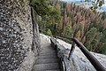 Stairway going down at the Moro Rock Trail - Sequoia National Park (27713795786).jpg