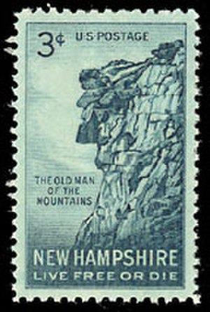 Old Man of the Mountain -  U. S. stamp issued in 1955. Plural version of the name is unusual.