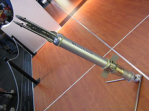 Starstreak - Starstreak missile on display at the African Aerospace and Defence exhibition, September 2006