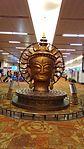 Statue of Buddha at Indira Gandhi International Airport.jpg