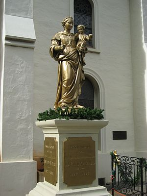 Malia O Ka Malu - A statue of and dedicated to Malia O Ka Malu stands in the courtyard of the Cathedral of Our Lady of Peace in Honolulu.
