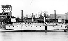 Steamers Three Sisters (front) and Wm. M. Hoag (rear), at Corvallis, Oregon, circa 1892. Steamers Three Sisters and Wm Hoag at Corvallis ca 1892.jpg