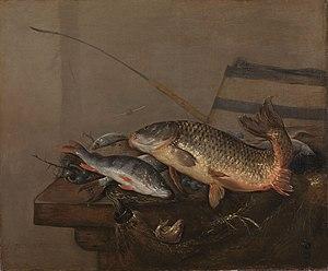 Pieter van Noort - Still life with fish