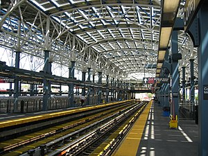 Coney Island–Stillwell Avenue (New York City Subway) - Platform view of the platforms serving eastern tracks 1–4