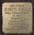 Stolperstein Aschaffenburger Str 23 (Wilmd) Susette Freund.jpg