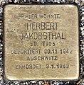 Stolperstein Bartningallee 7 (Hansa) Herbert Jakobsthal.jpg