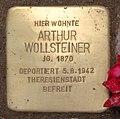 Stolperstein Hektorstr 16 (Halsee) Arthur Wollsteiner2.jpg