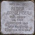 Stolperstein Salzburg, Regina Grindlinger (Judengasse 17).jpg