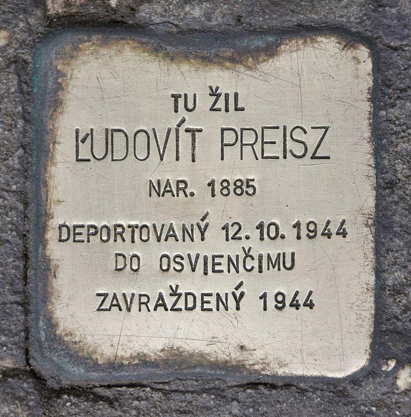 Stolperstein für Ludovít Preisz.JPG