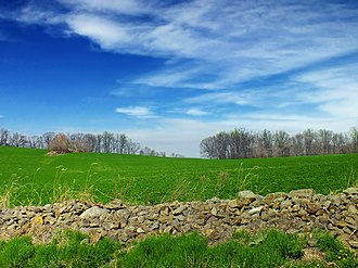 Alsace Township, Berks County, Pennsylvania - A field in the township