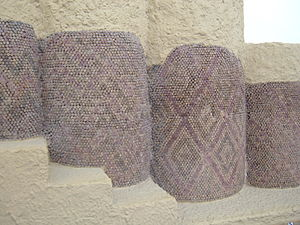 Tessellation - A temple mosaic from the ancient Sumerian city of Uruk IV (3400–3100 BC), showing a tessellation pattern in coloured tiles