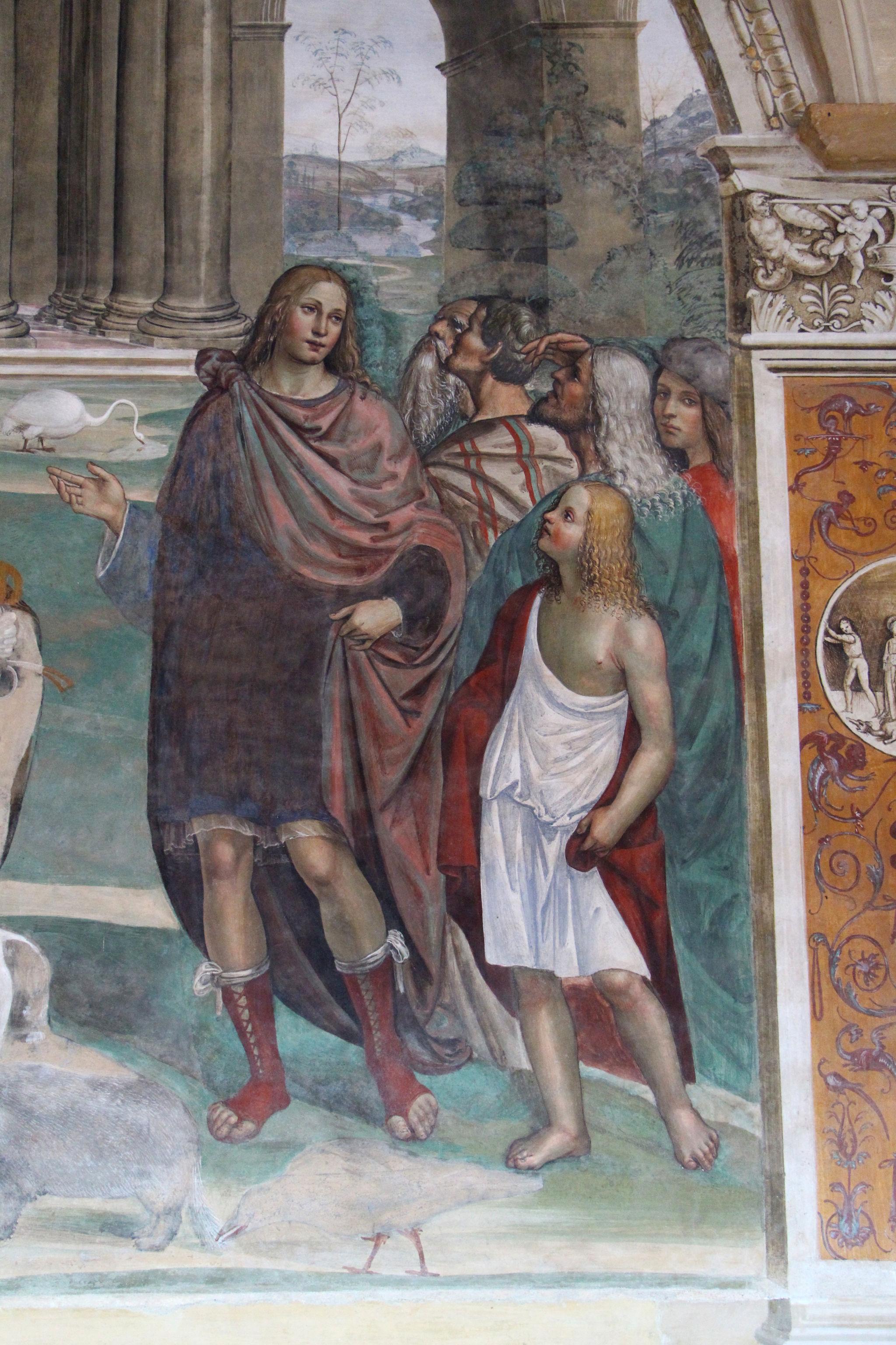 Storie di s. benedetto, 03 sodoma - Come Benedetto risalda lo capistero che si era rotto 10