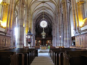 St Thomas' Church, Strasbourg - Central nave