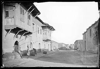 Larnaca - Street in Larnaca in 1878