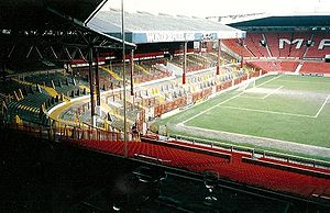 Old Trafford - The Stretford End before its redevelopment in the early 1990s