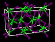 Struktur von Strontiumiodid