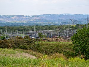 Electricity sector in El Salvador - An electrical substation north of San Salvador, near Nejapa