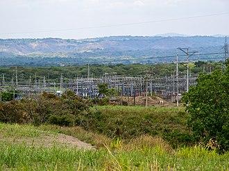 Electricity sector in El Salvador - An electrical substation north of San Salvador, near Nejapa