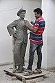 Subimal Das Making Raj Kapoor Sculpture - Kolkata 2017-08-08 4138.JPG