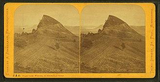 Sugar Loaf (Winona, Minnesota) - Sugar Loaf circa 1870, by Charles A. Zimmerman, 1844-1909