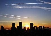 Lever de Soleil le jour du solstice d'été à Stonehenge en 2005