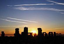 photograph of Stonehenge at sunrise