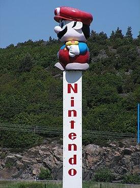 A Mario statue